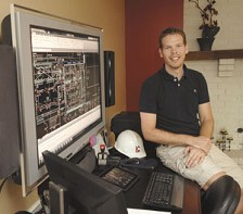 Kris Kunze followed his dream by starting a company; working at home made the dream even better. Photo by Duane Tinkey<br />
