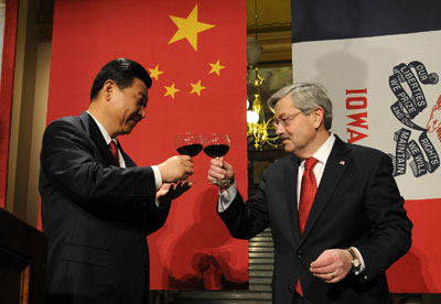 Chinese Vice President Xi Jinping's visit to Iowa.