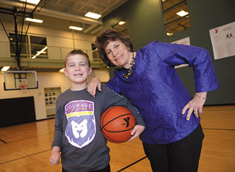 Melissa Clarke-Wharff and her son, Jack, will spend time at the Waukee Family YMCA as Courage League Sports gears up this summer.